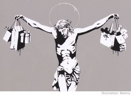 Banksy Jesus for Monday Meds